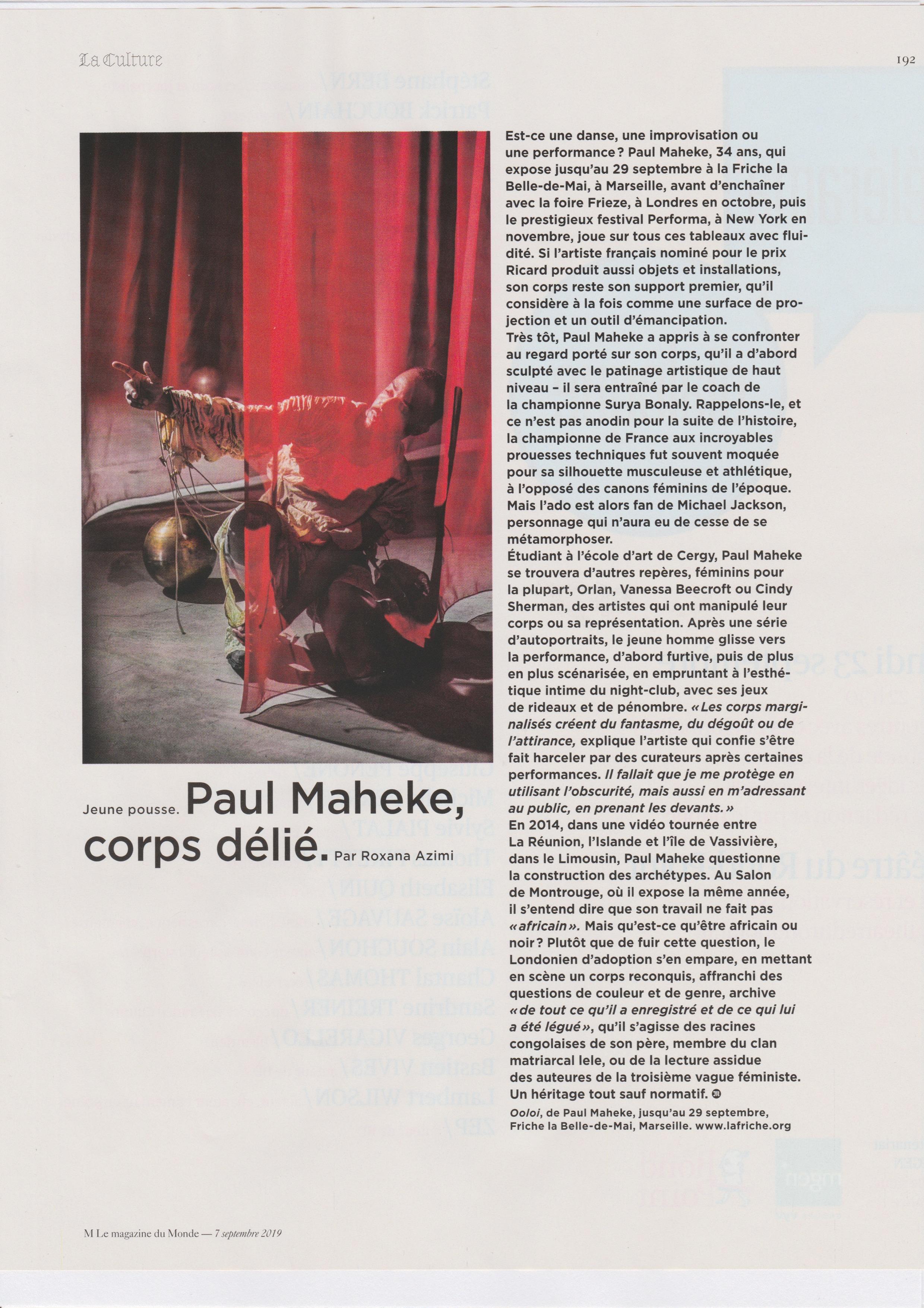 Paul Maheke — Mmagazine 2019