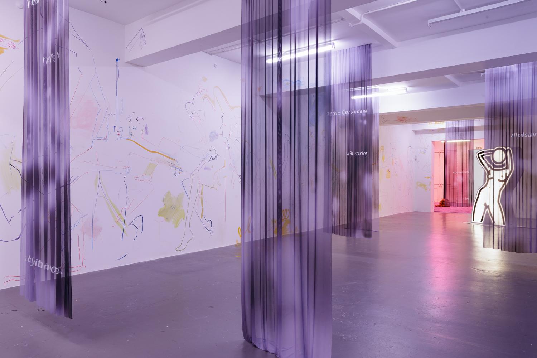 Installation views of (X) A Fantasy at David Roberts Art Foundation